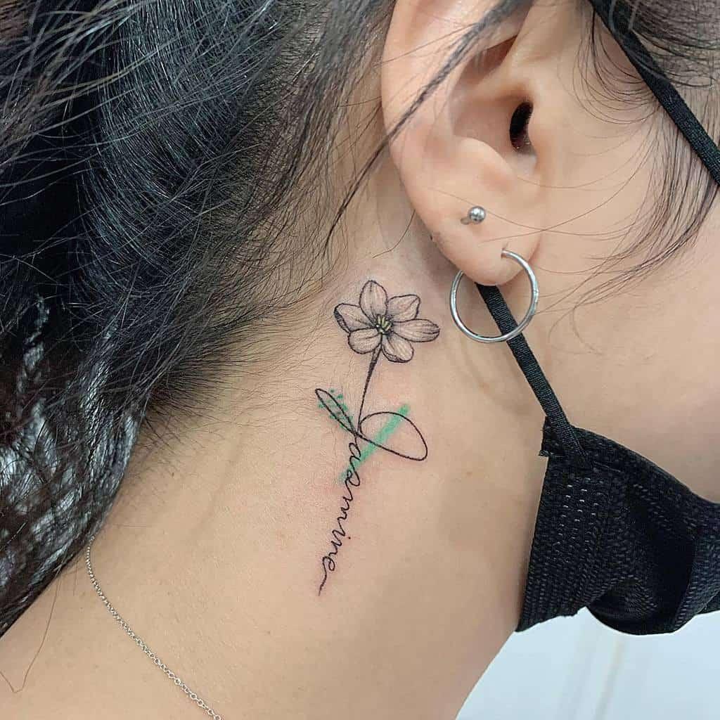 Small Flower Ear Tattoos Tattooer Nana