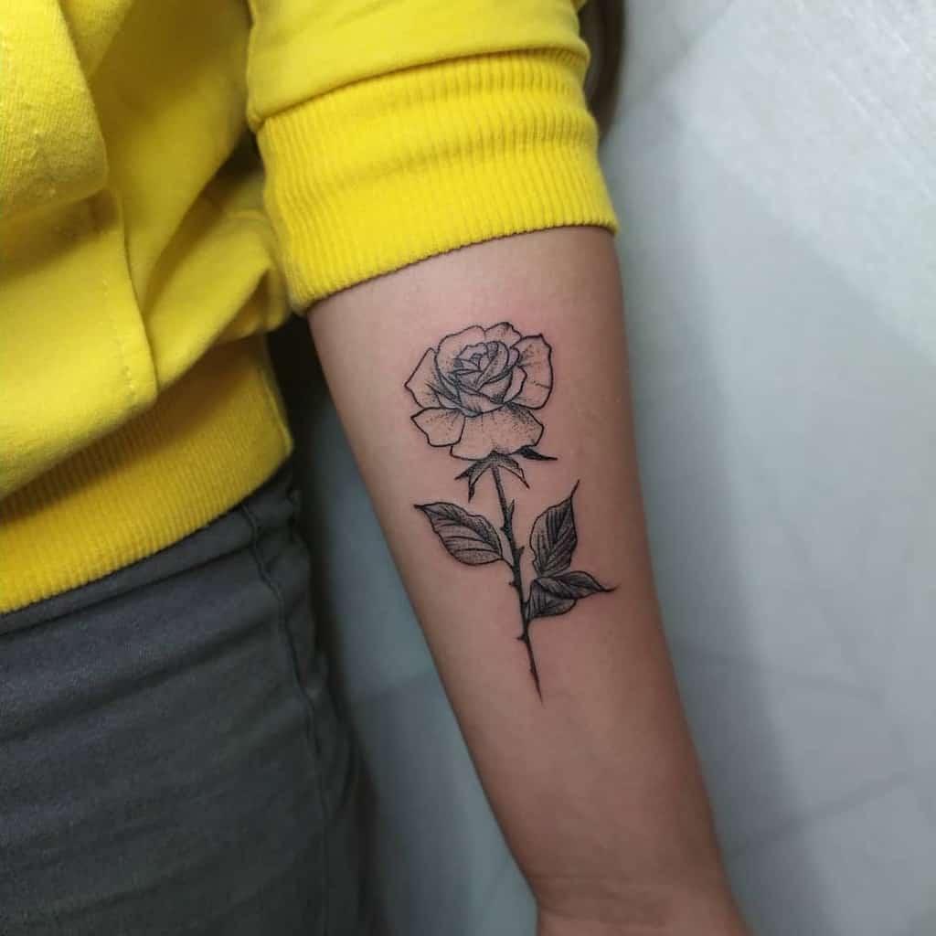 Small Flower Forearm Tattoos C.s.tattoo