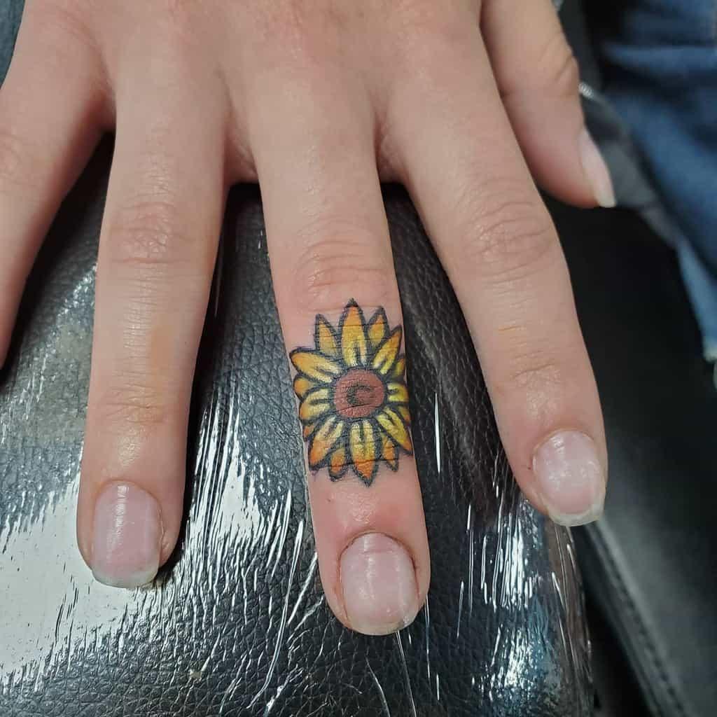 Small Flower Hand Finger Tattoos Jeni Moss