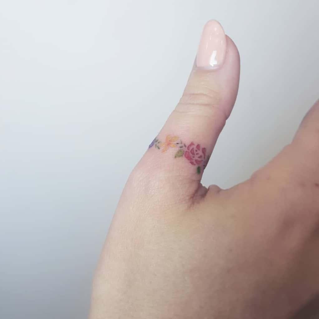 Small Flower Hand Finger Tattoos Sherriaustria