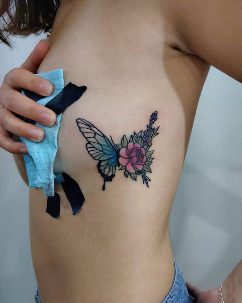 Small Flower Rib Tattoos Cbtattoo Art