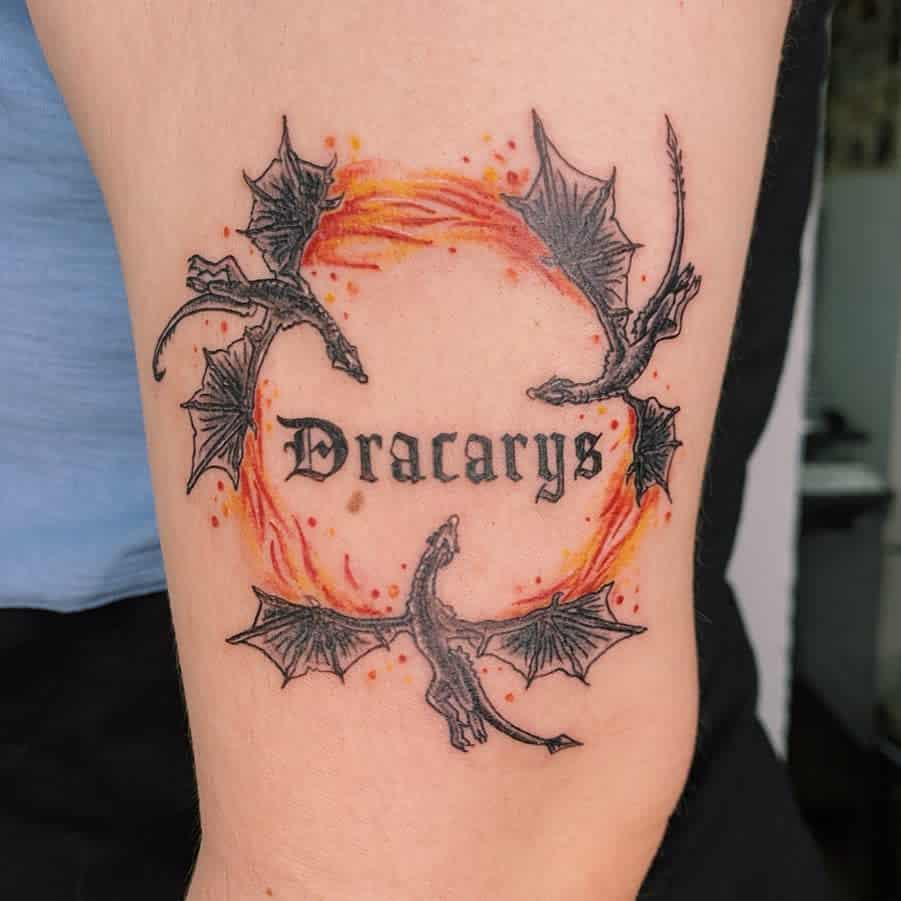 Small Game of Thrones Dragon Tattoo marytattooing
