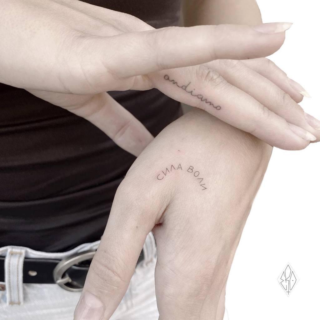 Small Hand Tattoo For Women Ero11tattoo