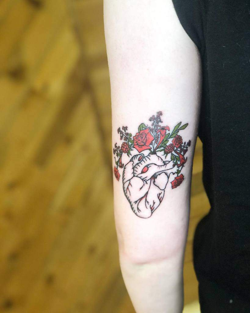 Small Heart Arm Tattoos Lily Ink