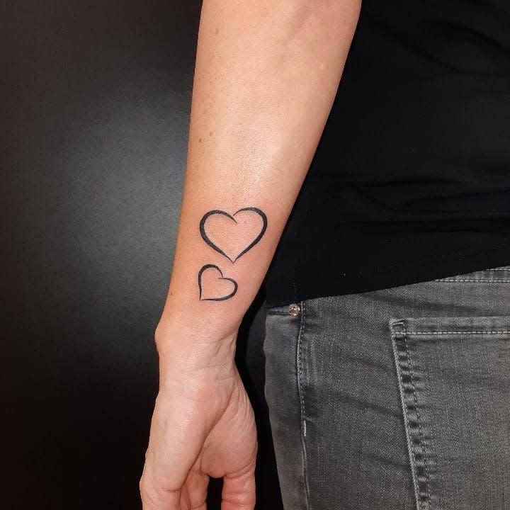 Small Heart Arm Tattoos Zele.tattoo.piercing