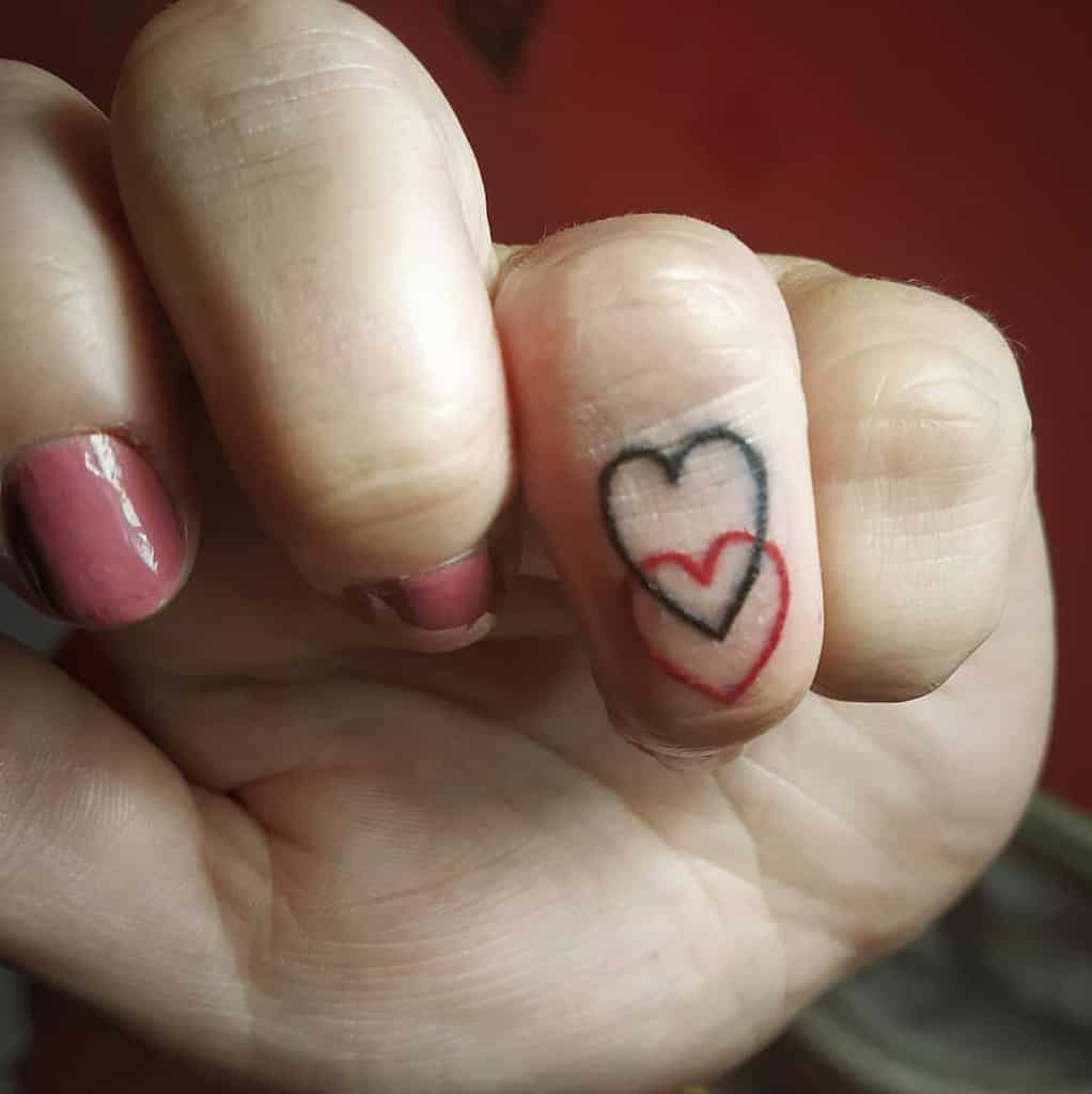 Small Heart Finger Tattoos countess_ink