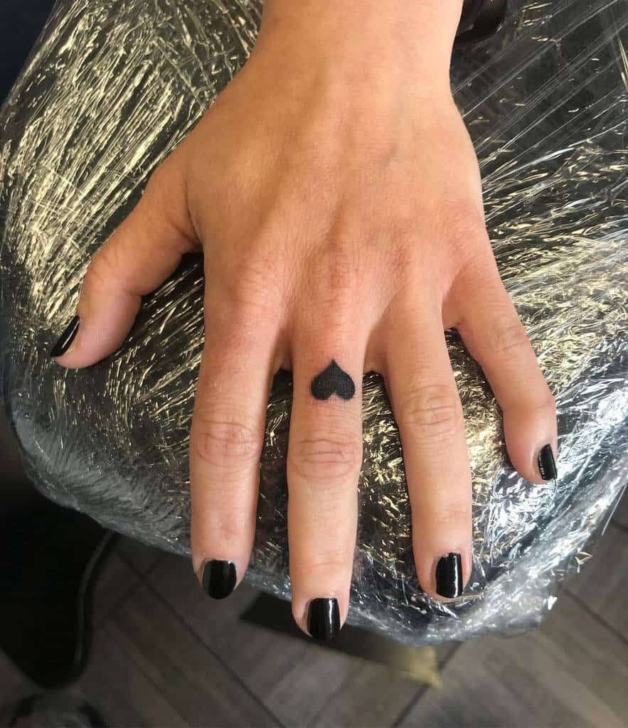 Small Heart Finger Tattoos tattoobyjenny