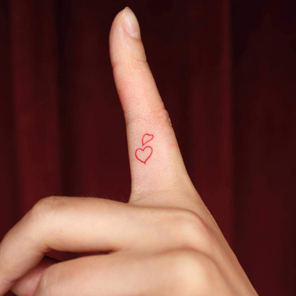 Small Heart Hand Finger Tattoos Suyscene