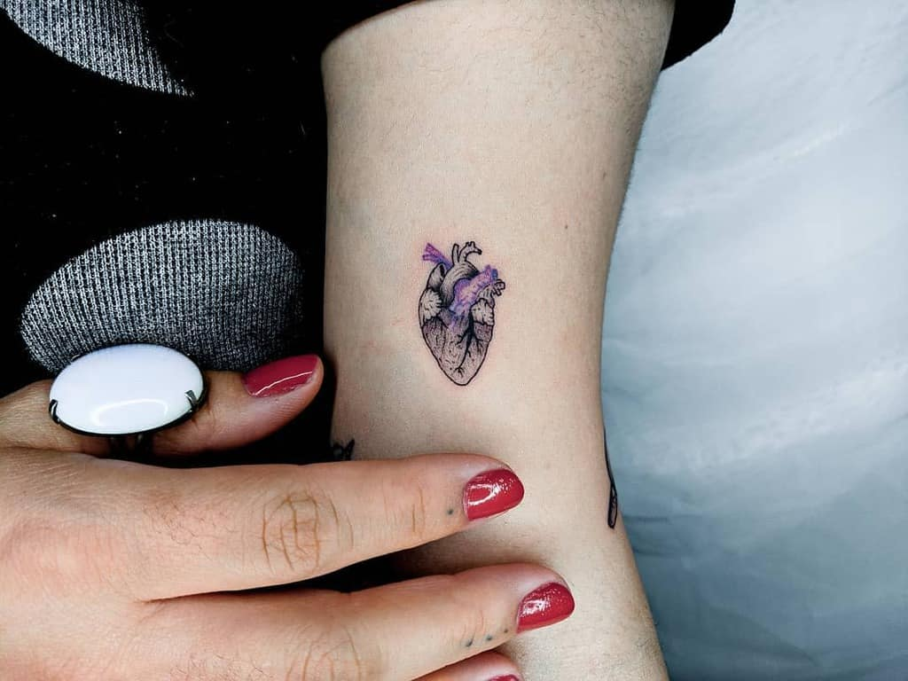 Small Heart Shoulder Tattoos Murilocaldastattoo