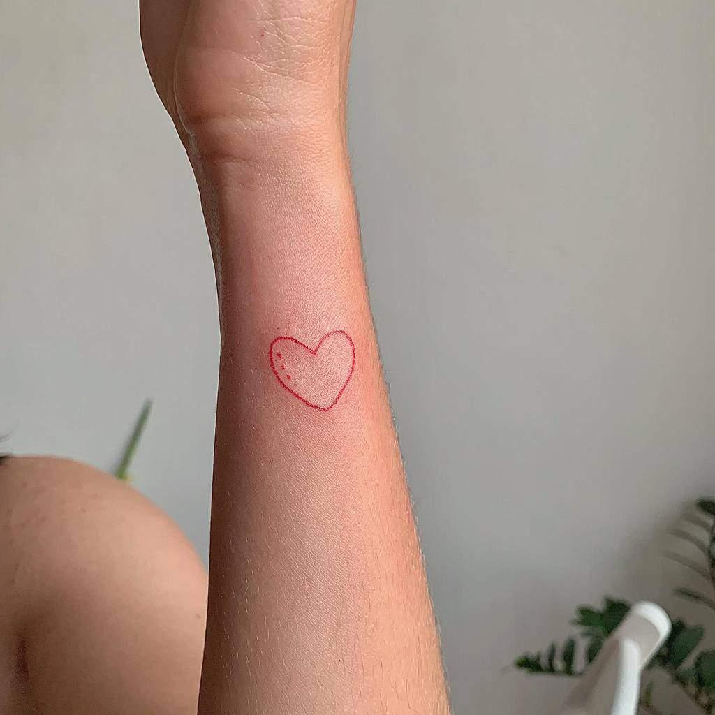 Small Heart Wrist Tattoos Krzta.dziarki