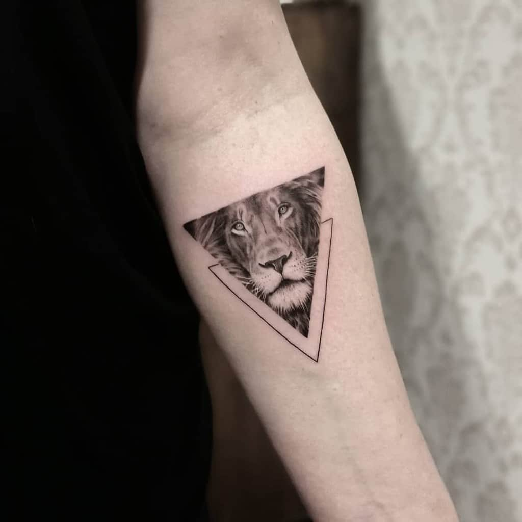 Small-Lion-Forearm-Tattoos-bloodflowertattoo
