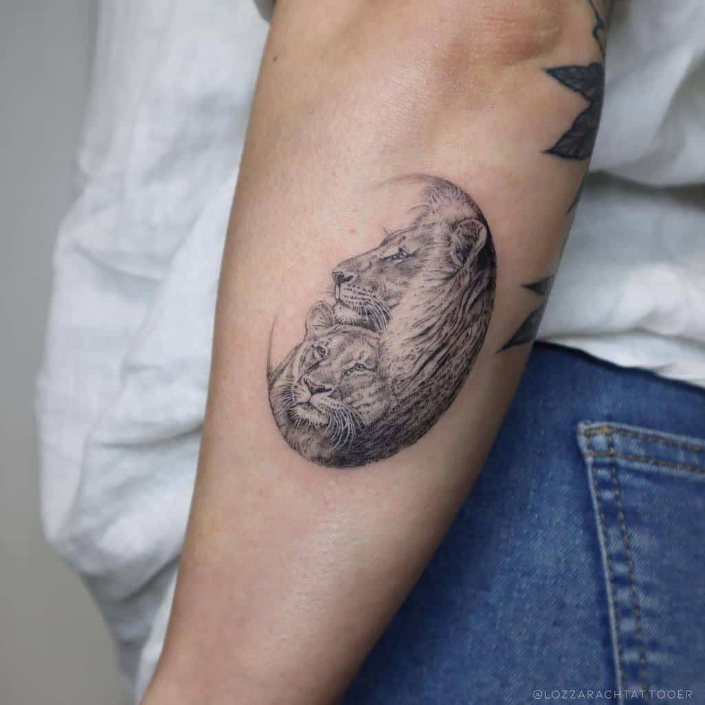 Small Lion Forearm Tattoos lozzarachtattooer