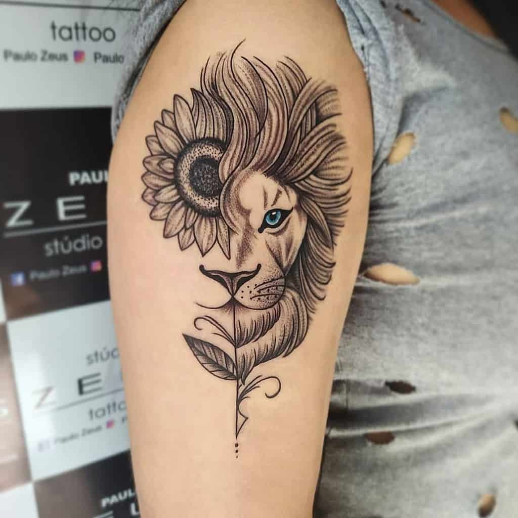 Small Lion Shoulder Tattoos paulo_zeus7