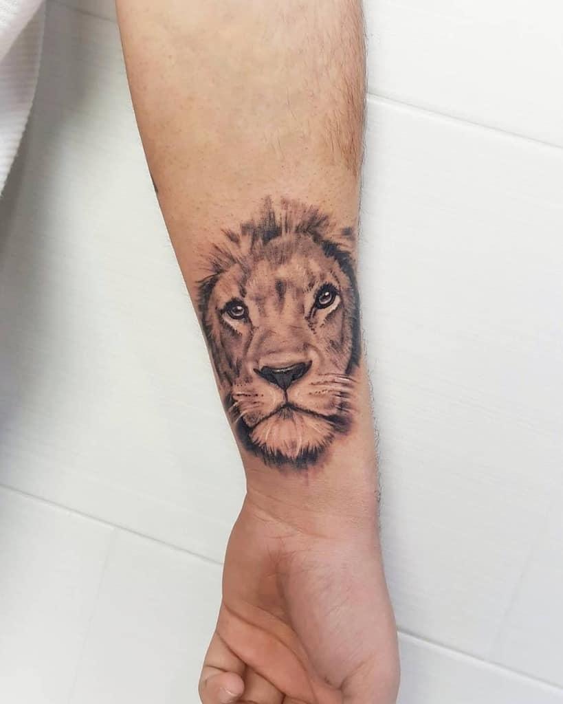 Small Lion Wrist Tattoos 785tattoo