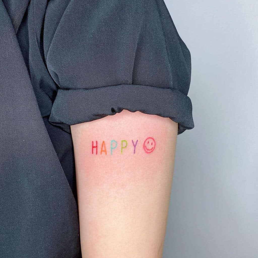 Small Meaningful Upperarm Tattoos yingyytattoo