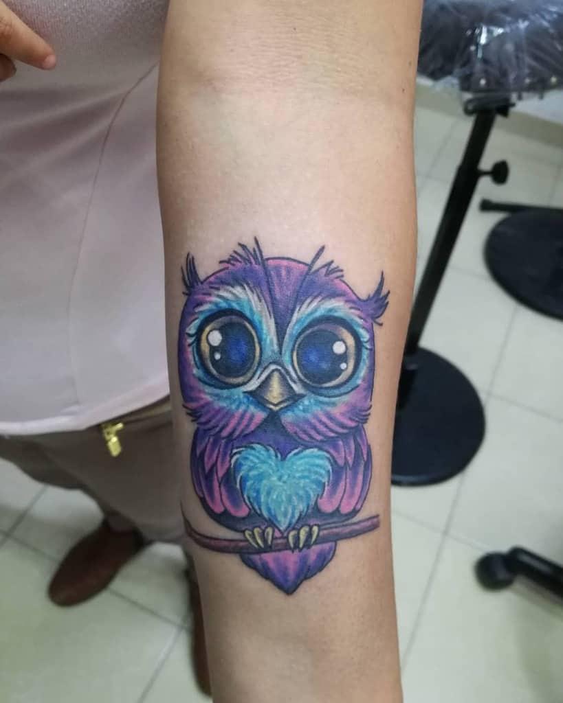 Small Owl Forearm Tattoos kemeltattoo