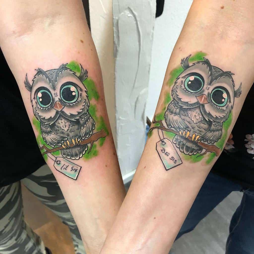 Small Owl Forearm Tattoos liquid_ink_tattoo