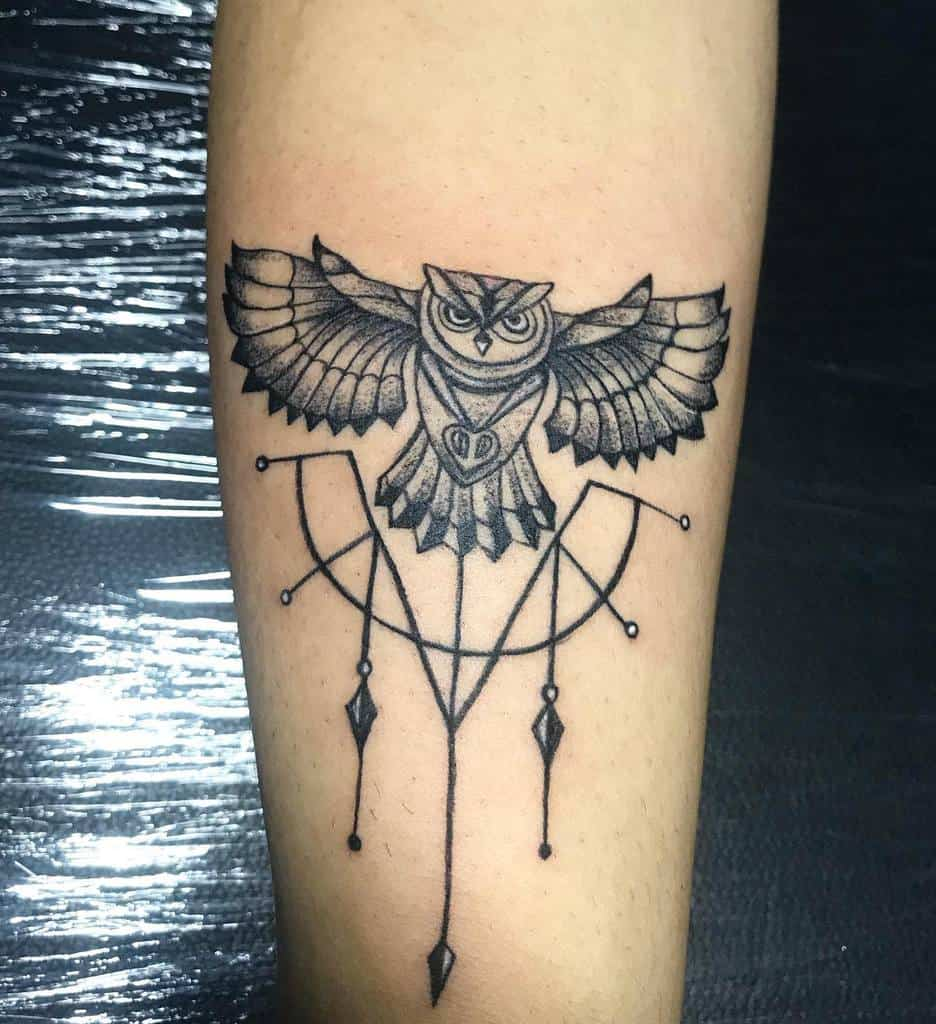 Small Owl Forearm Tattoos pirates_tattooz