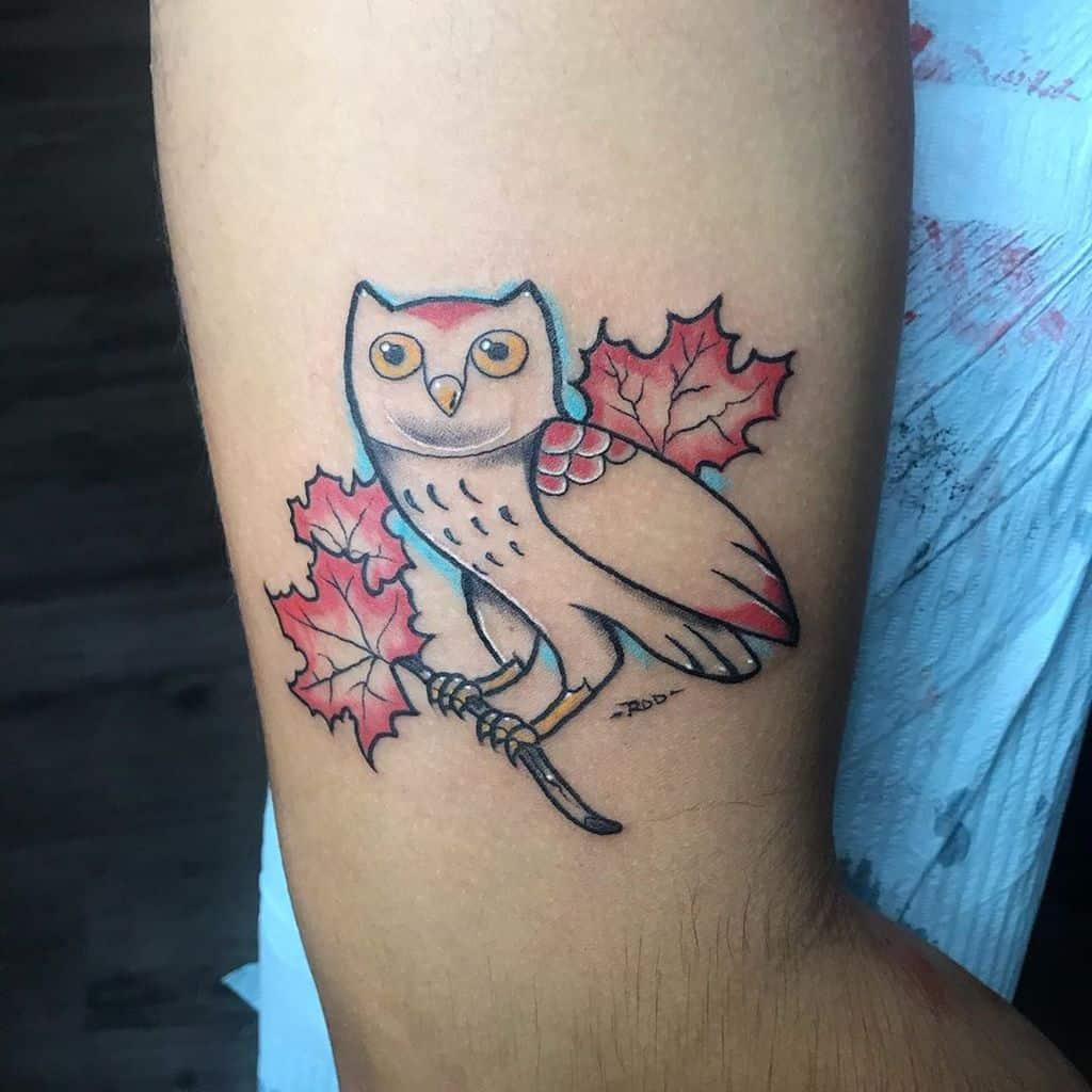 Small Owl Upperarm Tattoos rodmaj.ca