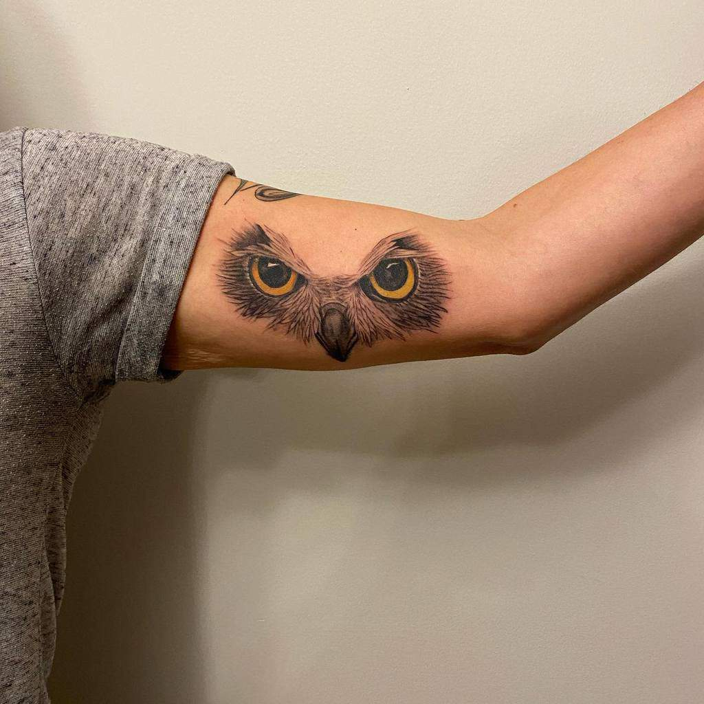 Small Owl Upperarm Tattoos tats_by_tyler