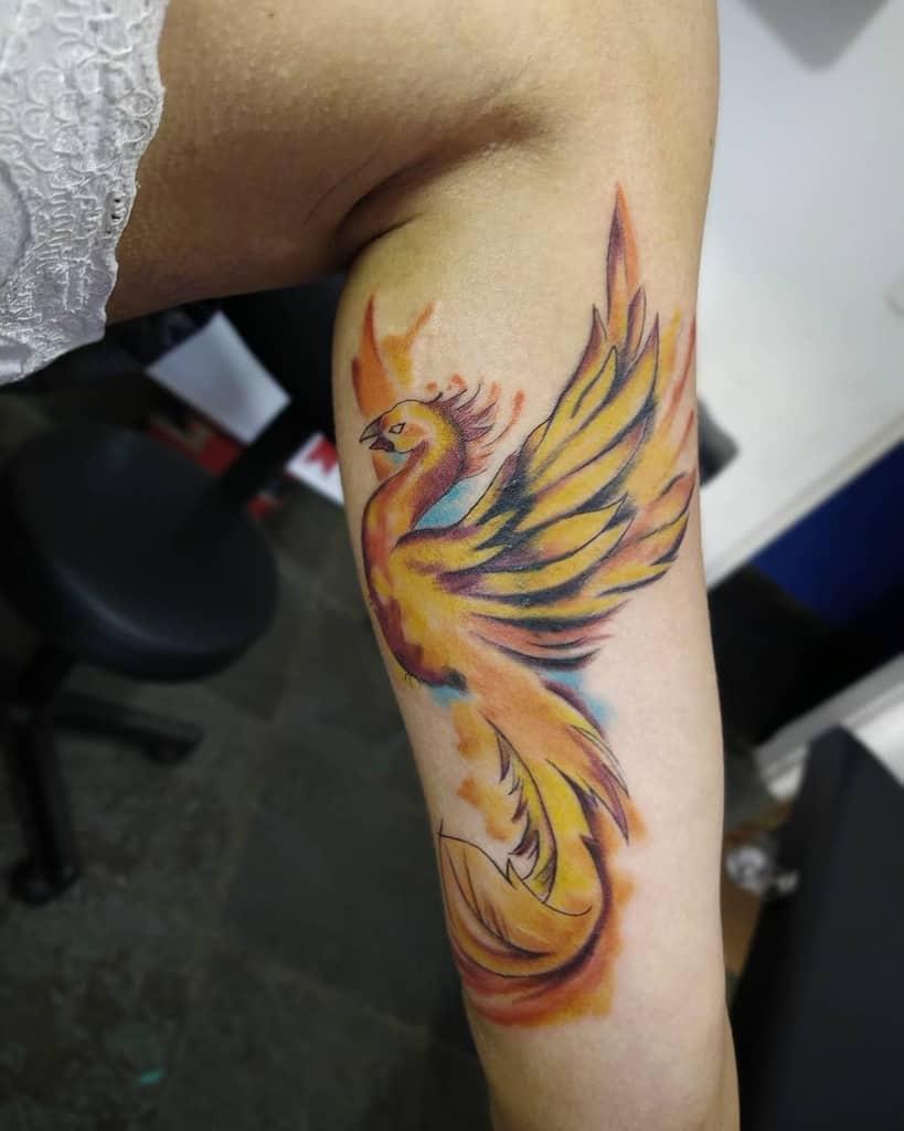 Small Phoenix Leg Tattoos diego_nilo_tattoo