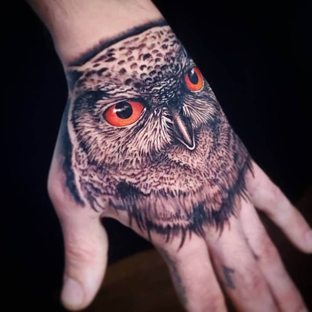 Small Realistic Owl Tattoos casedb