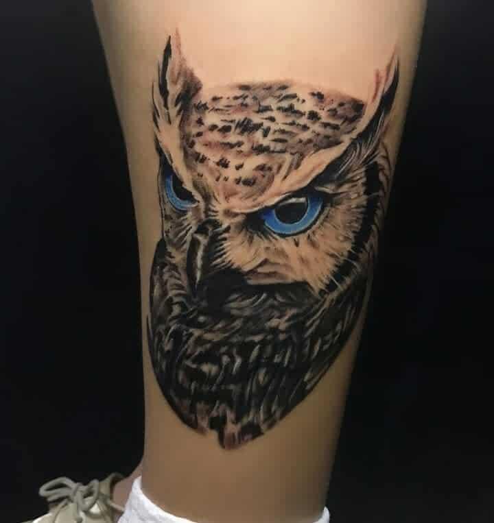 Small Realistic Owl Tattoos damadlanoche