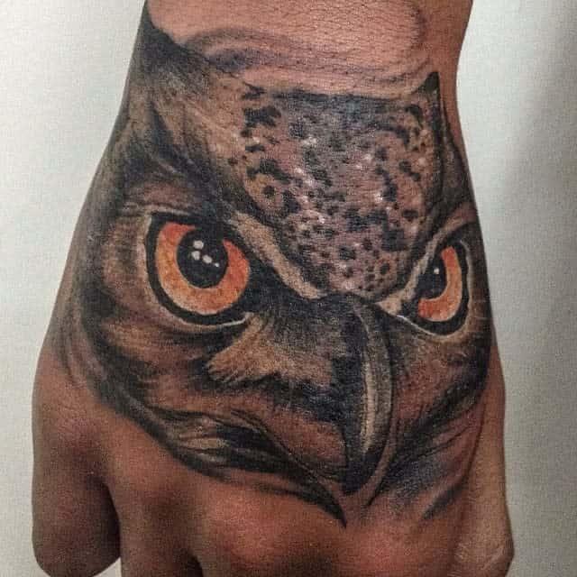 Small Realistic Owl Tattoos david_dagger_