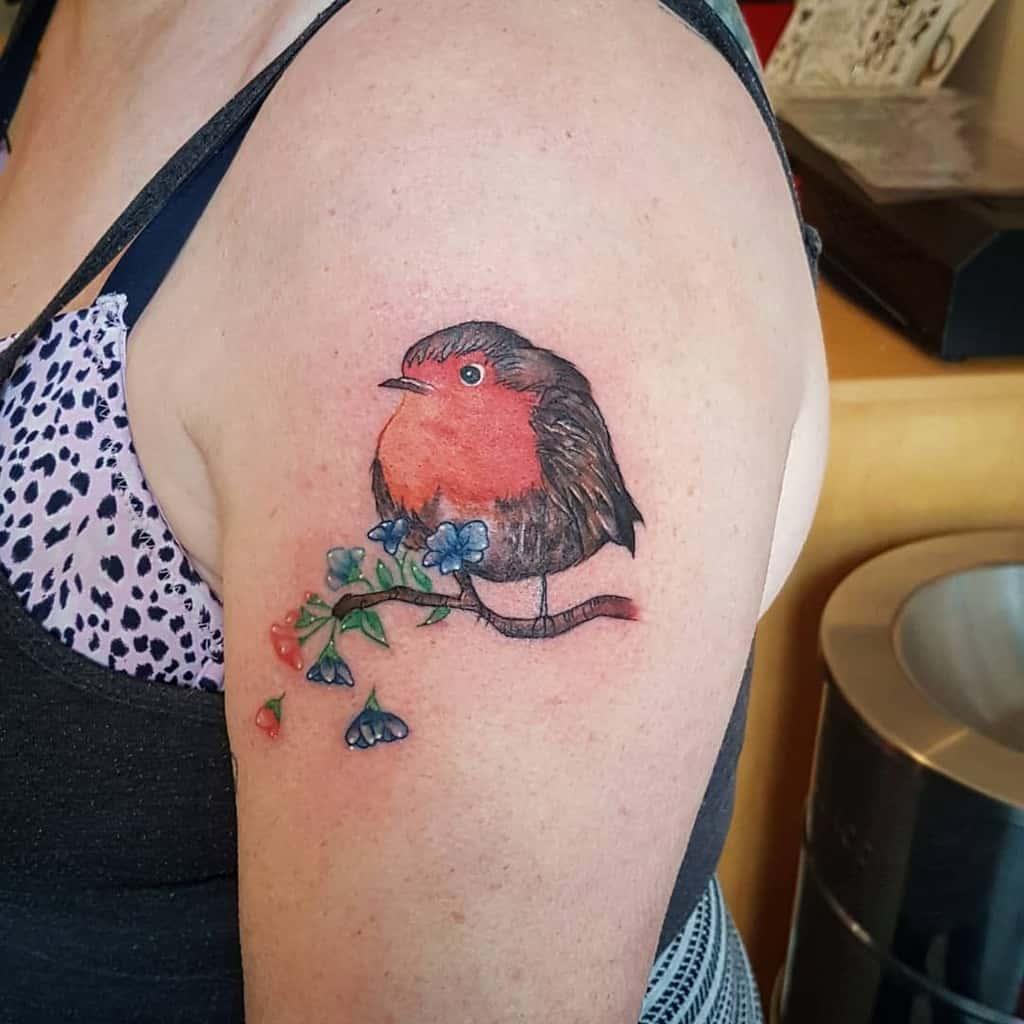 Small Robin Tattoo Katieetattooist
