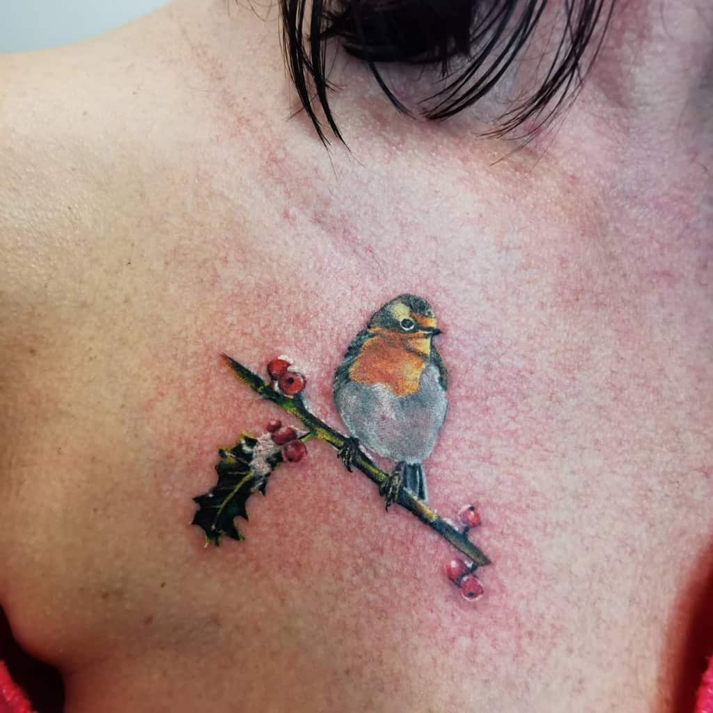 Small Robin Tattoo Mike Ross Tattoos
