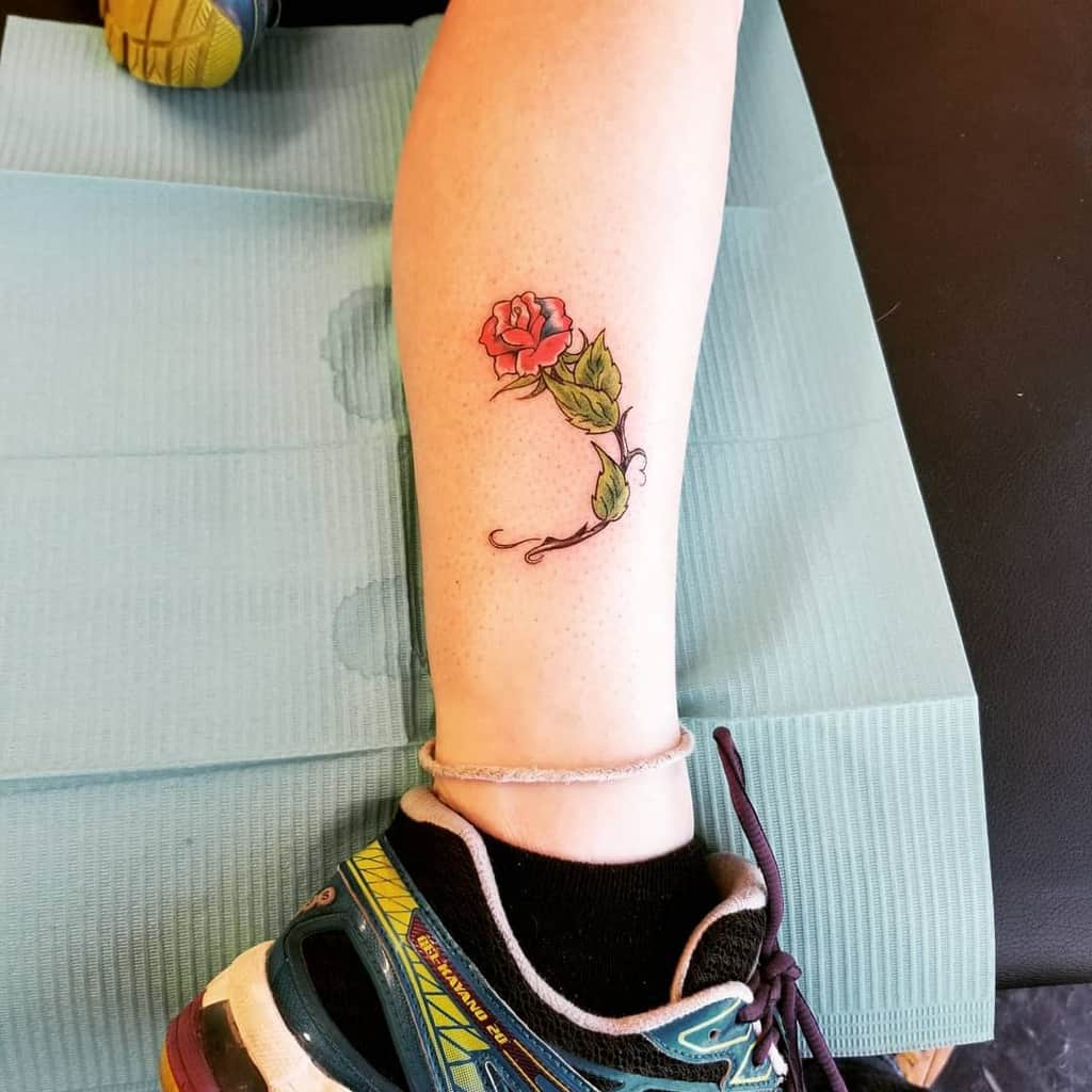 Small Rose Ankle Foot Tattoos cherokee_chuck