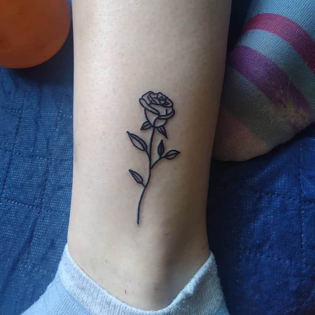 Small Rose Ankle Foot Tattoos S.h.a.r.k.tattoo