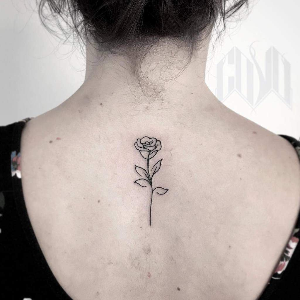 Small Rose Black Tattoos Covo Official