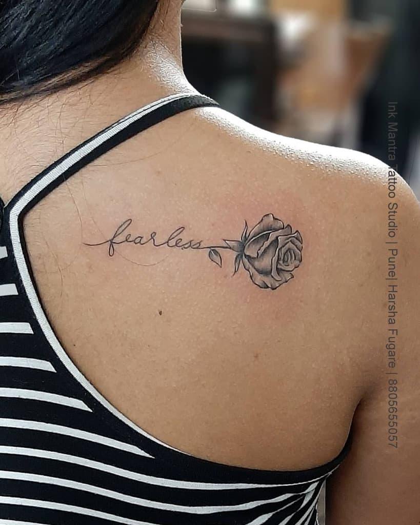 Small Rose Black Tattoos Ink Mantra Tattoos