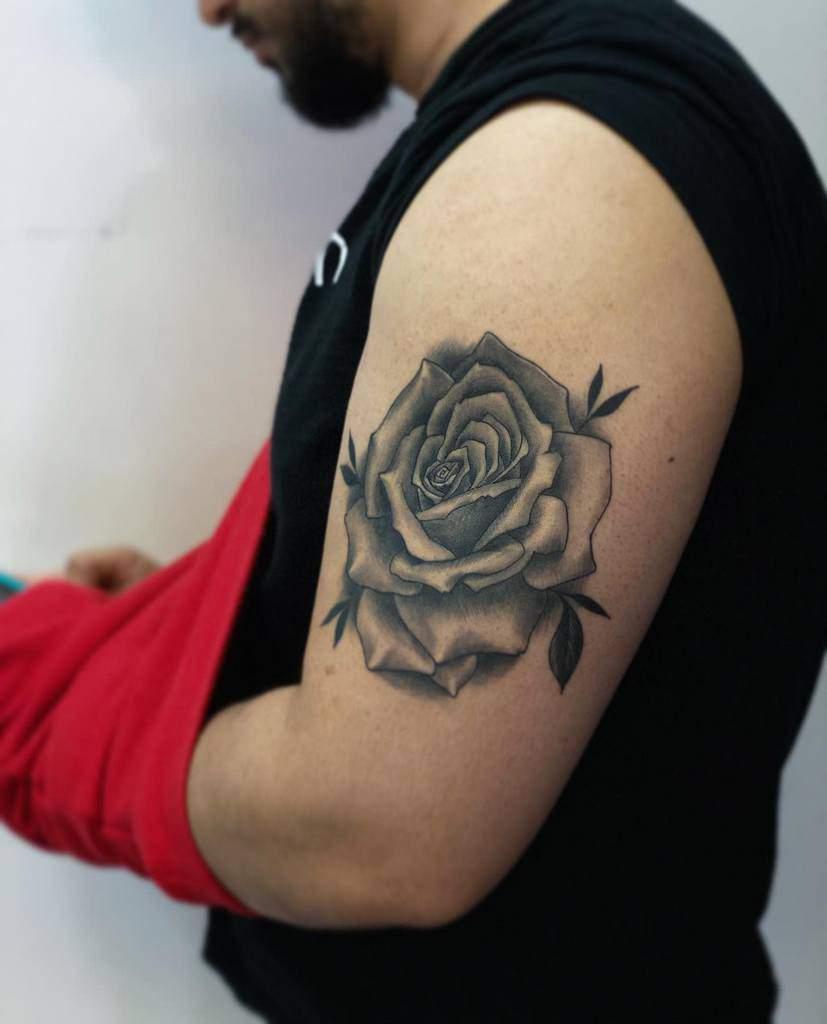 Small Rose Black Tattoos Ink Nerd 7
