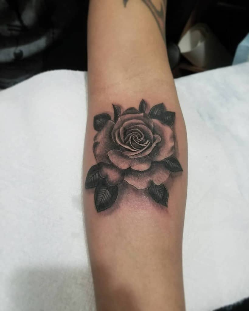 Small Rose Black Tattoos Small Rose Tattoos Ink Nerd 7