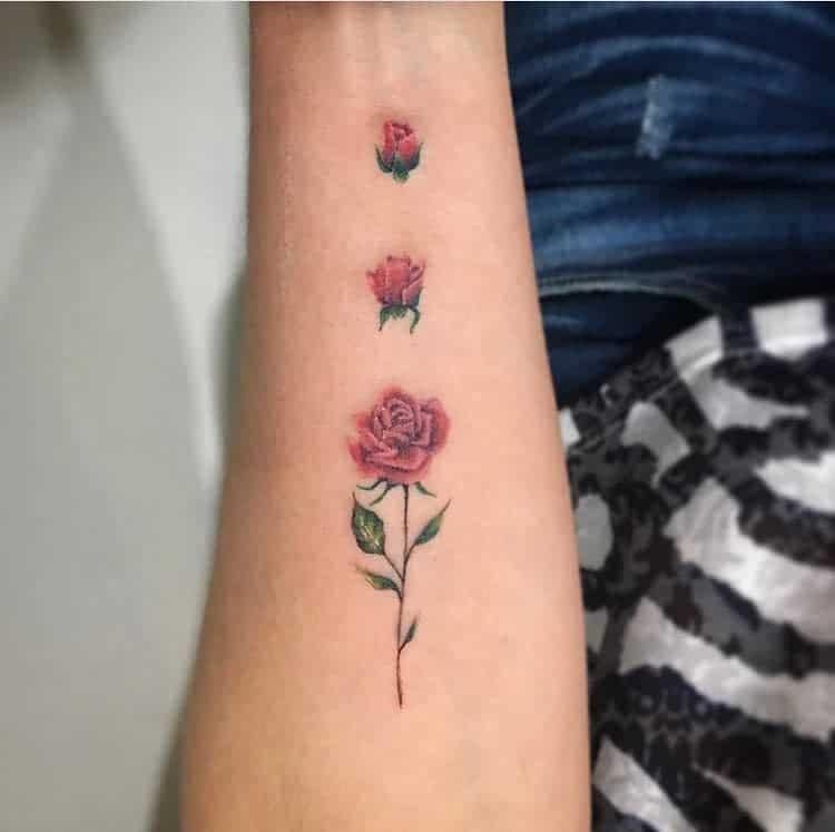 Small Rose Colored Tattoos Tattooistbrisa