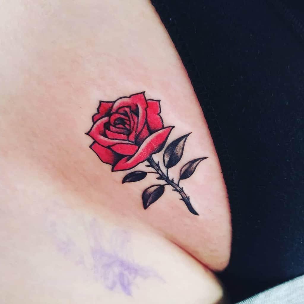 Small Rose Colored Tattoos Tattooosijek