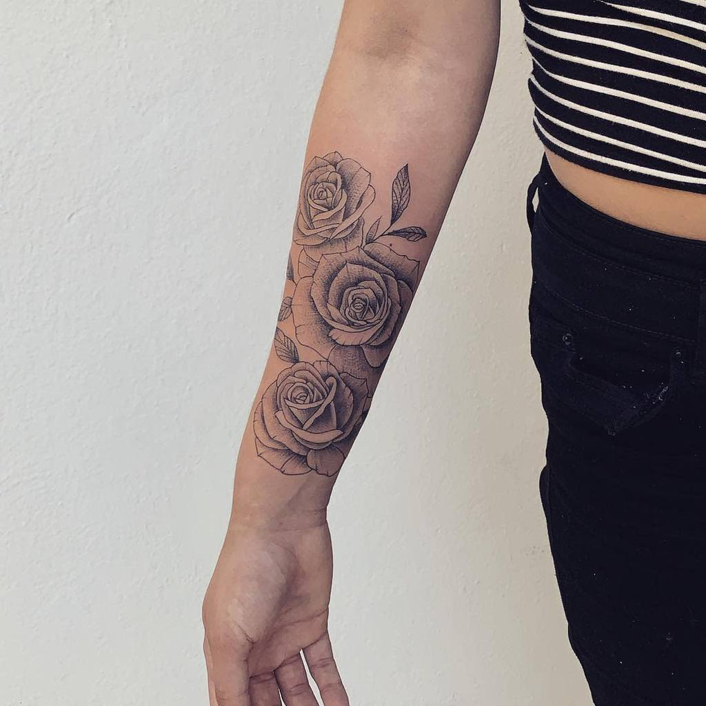 Small Rose Forearm Tattoos Lucasbmsoares