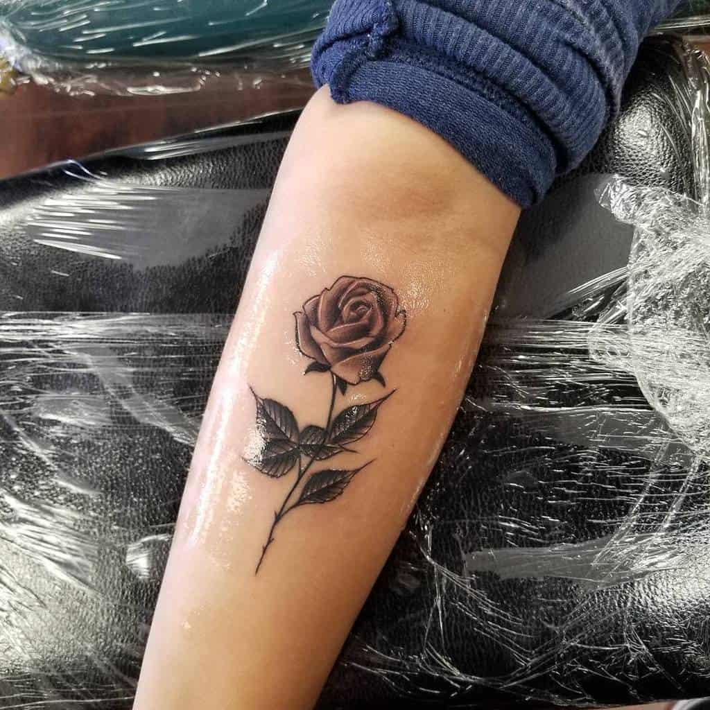 Small Rose Forearm Tattoos Ramm Tattoos