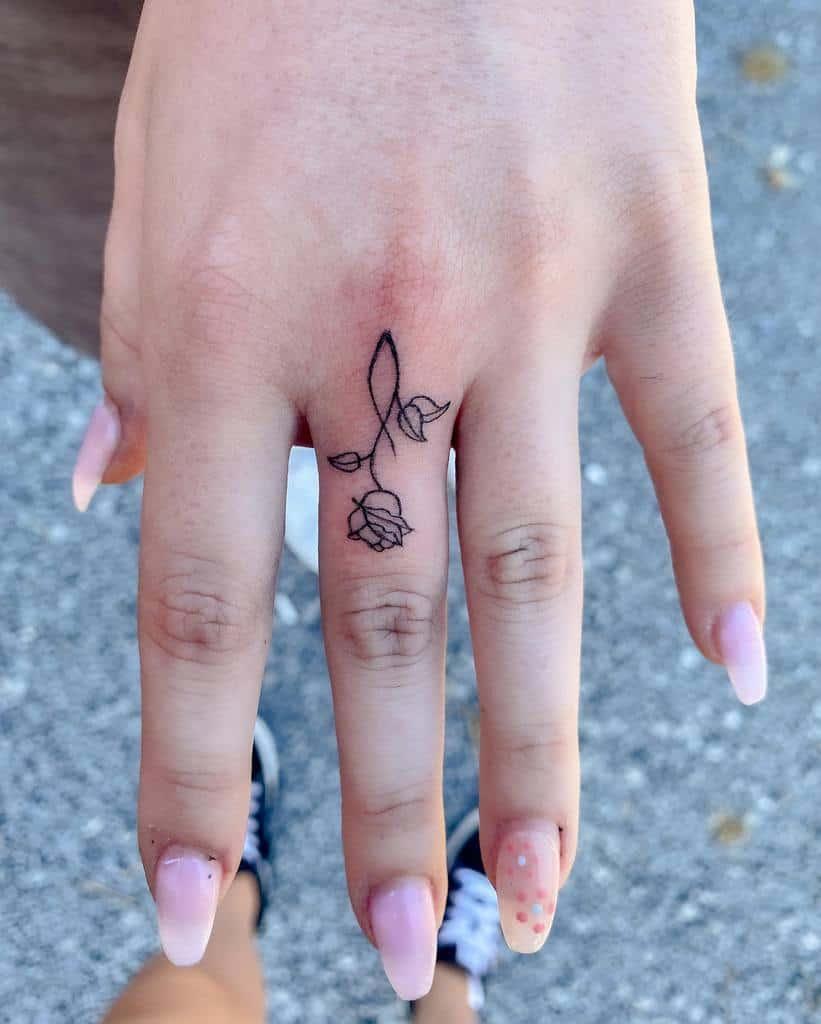 Small Rose Hand Finger Tattoos Florenceetlamachine