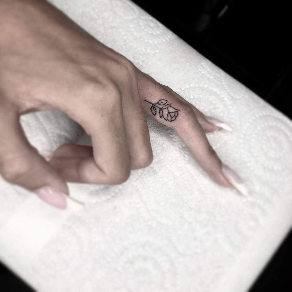 Small Rose Hand Finger Tattoos Shuffletattoo