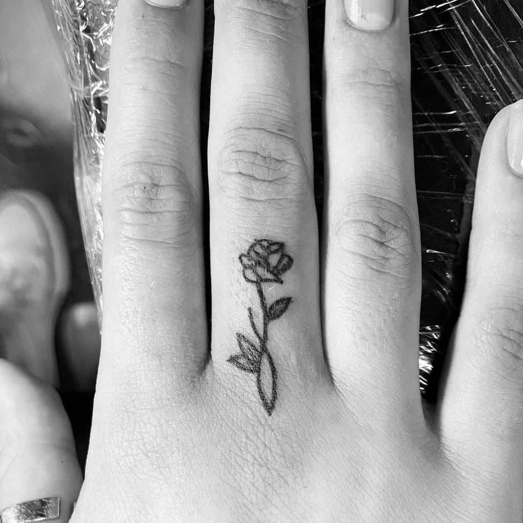 Small Rose Hand Finger Tattoos Tattoolicious