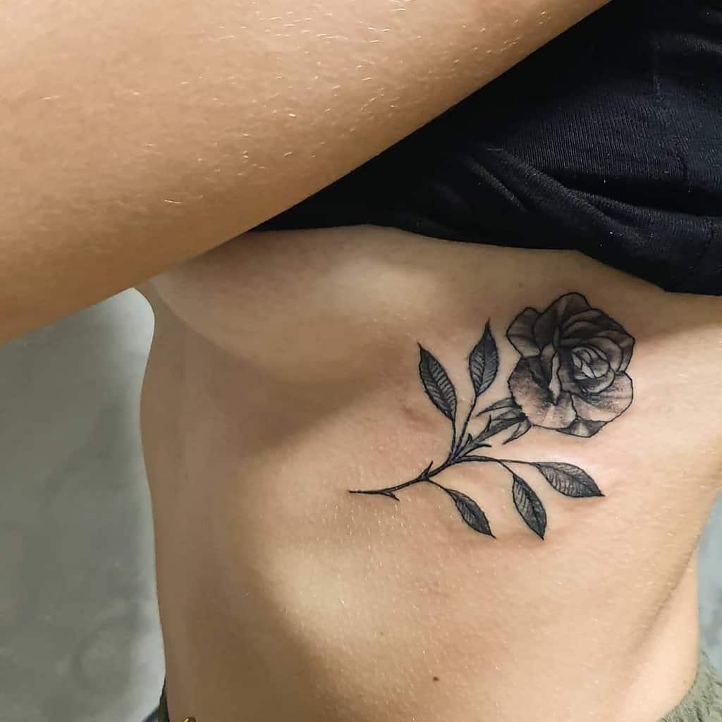 Small Rose Rib Tattoos Spartakostattoo Experience