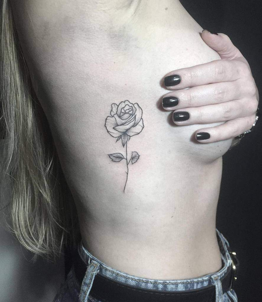 Small Rose Rib Tattoos Vicnunestattoo