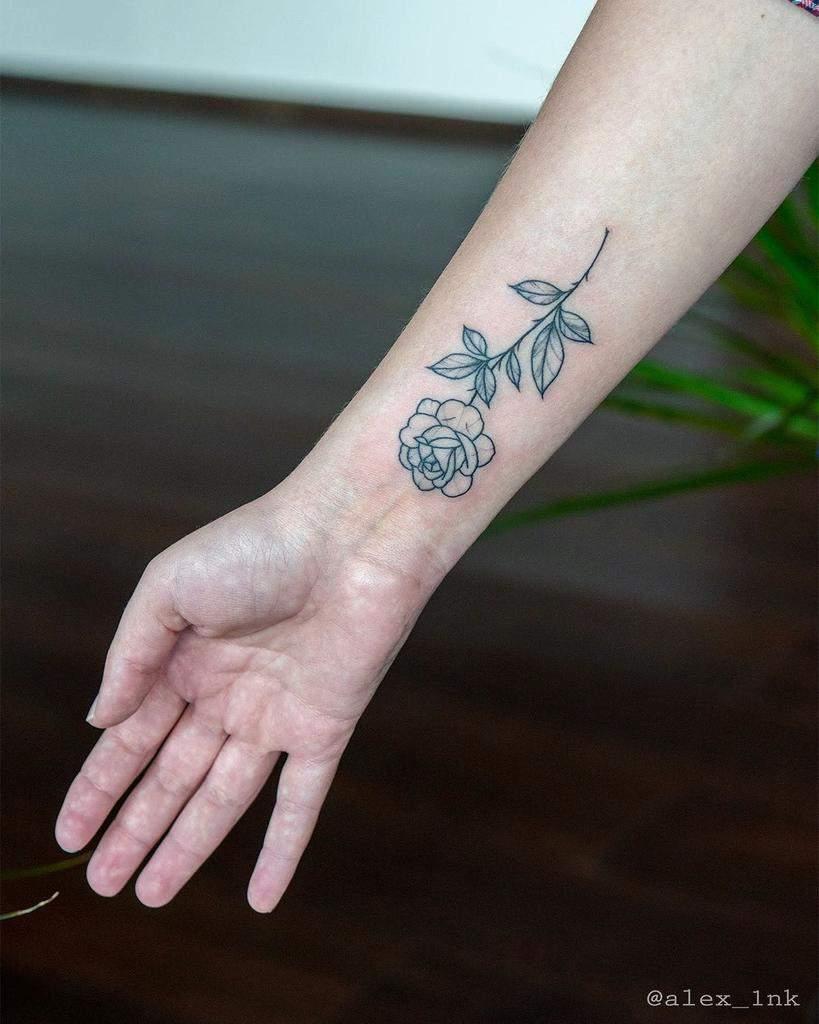 Small Rose Wrist Tattoos Alex 1nk