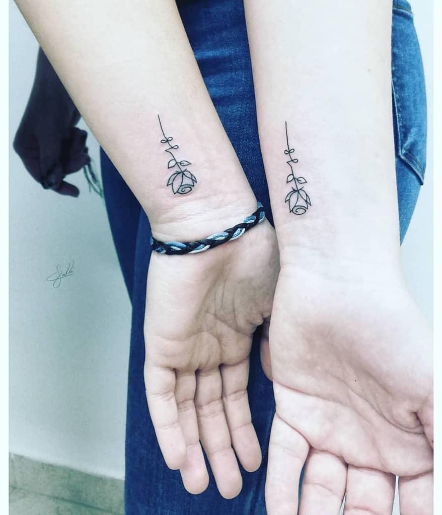 Small Rose Wrist Tattoos Calli Tattoo