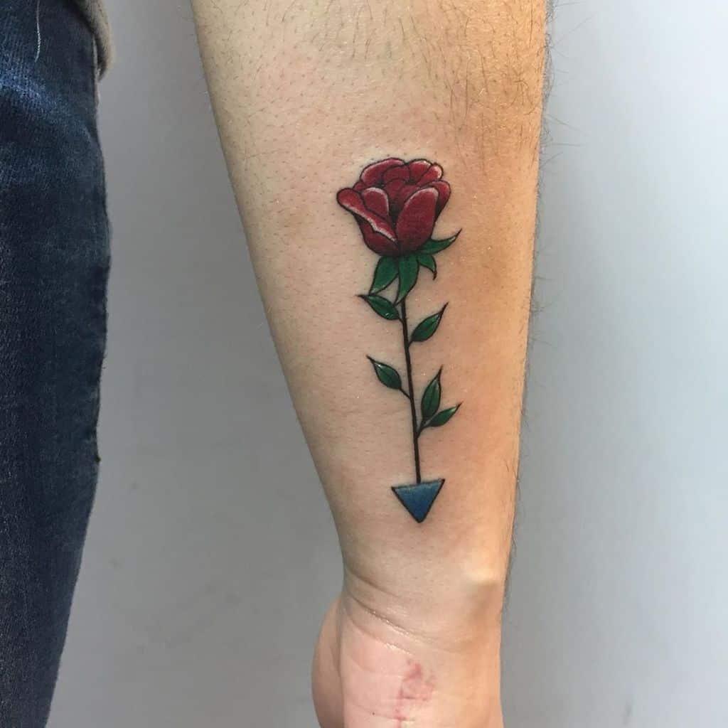 Small Rose Wrist Tattoos Conejomaloink