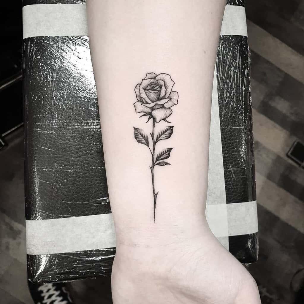 Small Rose Wrist Tattoos Newdawntattoo