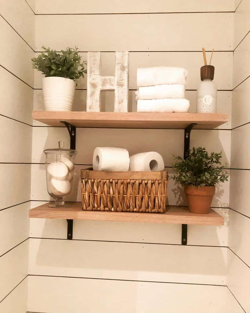 Small Shelving Ideas emmsfarmhouse_hamptons_love